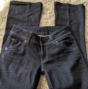 Cute Hudson signature petite Boot-Cut jeans.